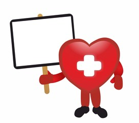 First aid - heart and board