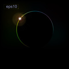 Abstract background with the eclipse of the planet. eps10