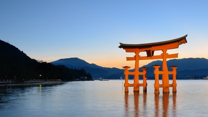 Japan's Famed Miyajima Gate Hiroshima Prefecture