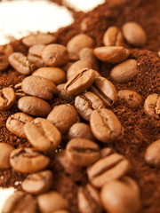 Heap of coffee