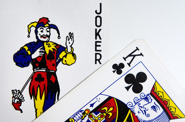 Joker and King Cards