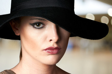 Fashion woman model portrait