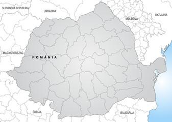 Landkarte von Rumänien mit Grenzen