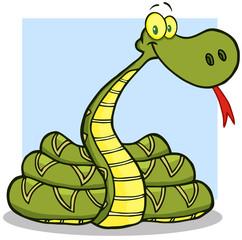Snake Cartoon Mascot Character