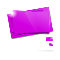 Abstract glossy purple speech bubbles