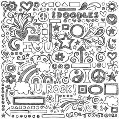 Sketchy Notebook Doodles Vector Design Elements Illustration