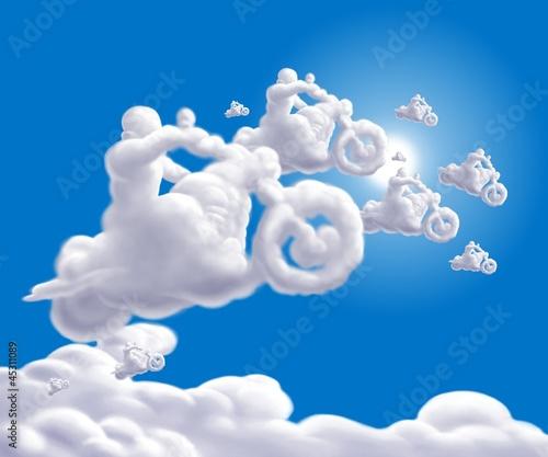 Papier Peint nuvole bikers