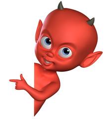 Recess Fitting Sweet Monsters 3d spiteful devil boy