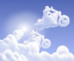 Papier Peint - nuvole bikers