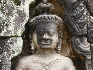 Relief of Preah Khan Temple at Angkor, Cambodia