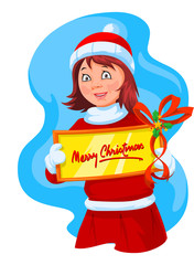 Merry Christmas greeting, illustration