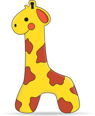 Cute Giraffe Toy - Vector