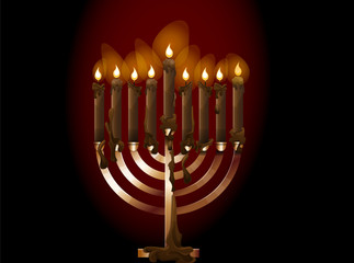 Menorah, illustration