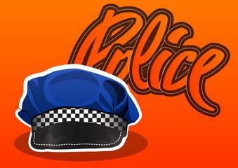 Police cap, illustration