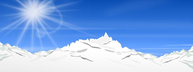 sonnige Berge