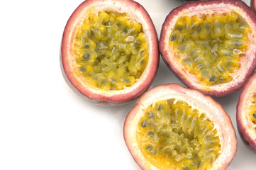 Border of Halved Passion Fruit