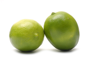 two limes, clipping-path
