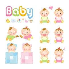 赤ちゃんのイラスト集