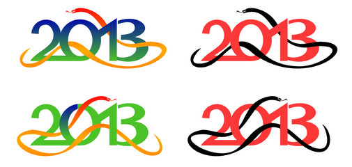 Snake - 2013 year symbol in vector