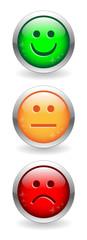 SATISFACTION SURVEY Buttons (green orange red customer feedback)