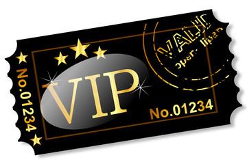 Ticket - VIP Gold auf Schwarz