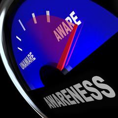 Awarenes Fuel Gauge Aware Rising Improving Knowledge