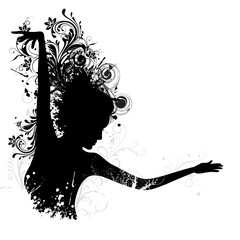Floral Dancing Lady