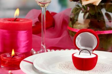 Ring in gift box