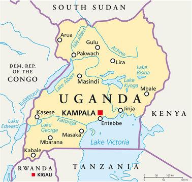 Uganda map (Uganda Landkarte)
