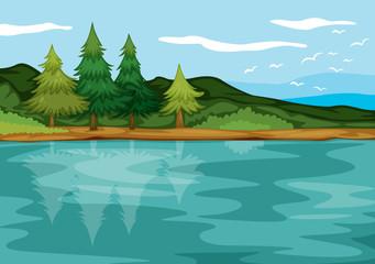 Poster de jardin Oiseaux, Abeilles beautiful landscape