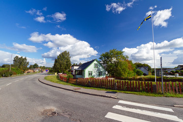 Scenery of quiet Swedish village
