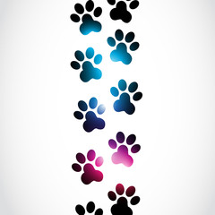 Vector Abstract Paws