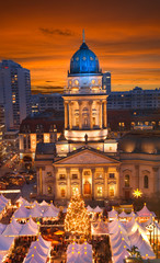 berlin gendarmenmarkt christmas sunset
