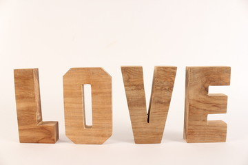 LOVE text from wooden letter version 1