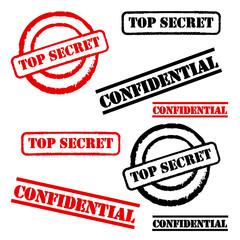 "Stempel Set ""Top Secret"" & ""Confidential"""