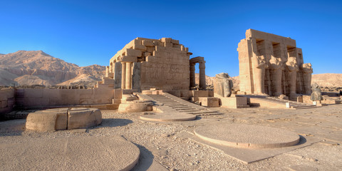 Temple of Ramses (Ramesseum) in Luxor