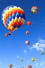Poster Ballon colorful hot air balloons