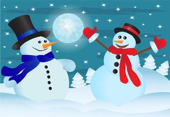 two snowmens