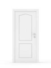 white door isolated on white