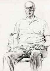 Man sitting sketch