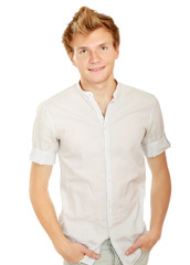 Portrait of happy casual young man standing