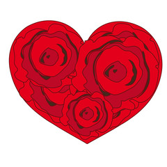 Heart red,hearts,rose,roses