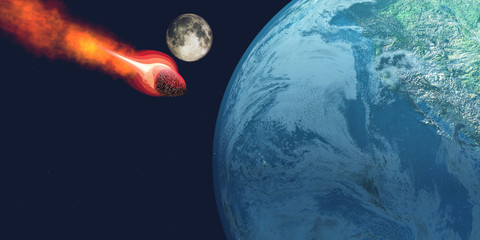 Earth hit by Asteroid