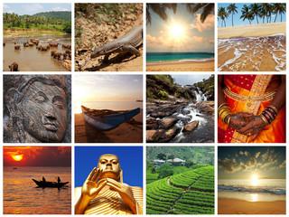 Sri Lanka collages