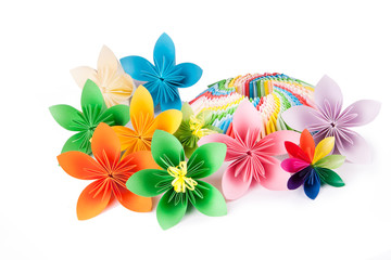 colorful flowers for kusudama, several pieces