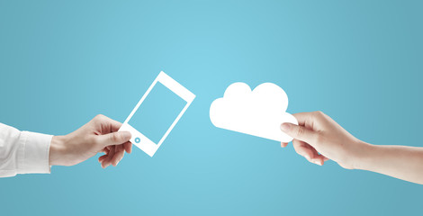 and cloud and phone
