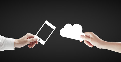 phone and cloud