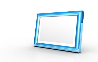 3D - Bilderrahmen blau 2