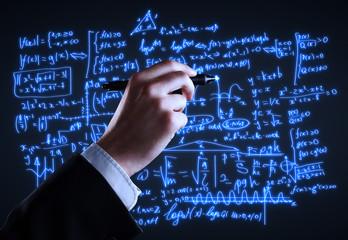 hand drawing formulas