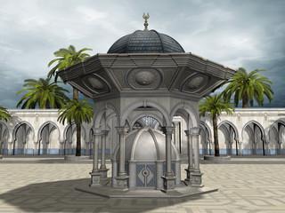 Wschodni pałac z palmami